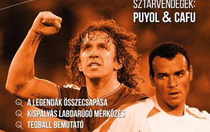 Világbajnokok fociznak Nyíregyházán – Puyol és Cafú is pályára lép az Arénában!!!