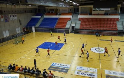Nyíregyházi KC – Mizse KC Férfi bajnoki kézilabda mérkőzés Fotó: Szarka Lajos, www.nyiregyhaza.hu
