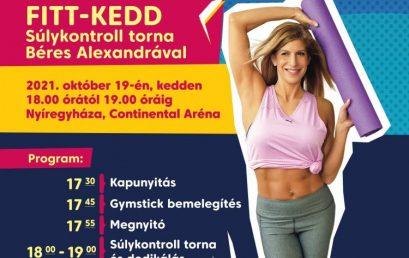 Fitt-kedd: súlykontroll torna Béres Alexandrával a Continental Arénában